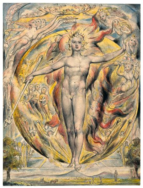 William Blake, The Sun at his Eastern Gate, 1820