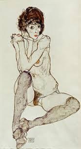 Egon Schiele, Seated Female Nude, 1914