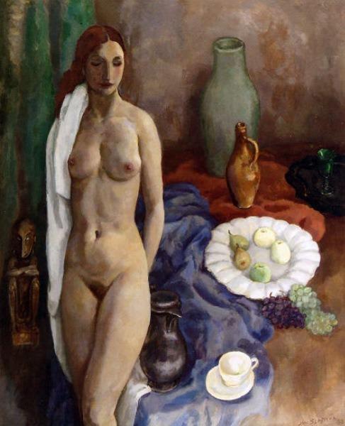 Jan Sluitjers,   Still Life with Standing Nude,