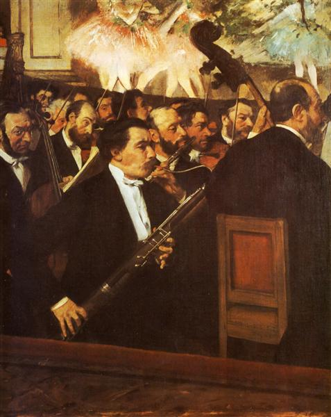 Degas, The Orchestra of the Opera, 1869