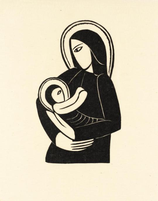Eric Gill, Madonna and Child, 1919.jpg