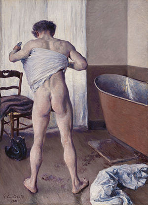 Gustave Caillebotte, Homme au bain, 1884.