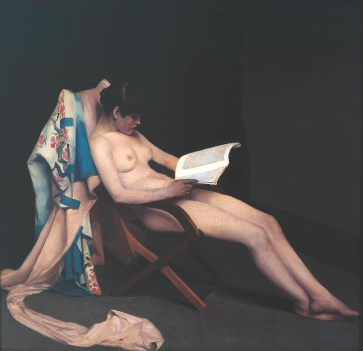 Theodore Roussel, 'The Reading Girl', 1886-7