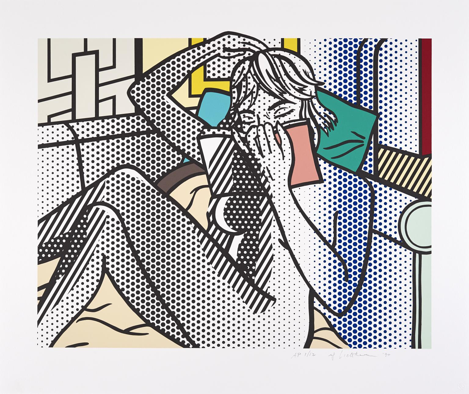 Roy Lichtenstein, 'Nude Reading', 1994.
