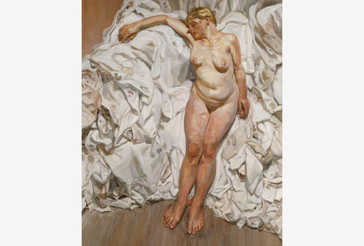 Lucien Freud, Standing by the rags, 1988-89.
