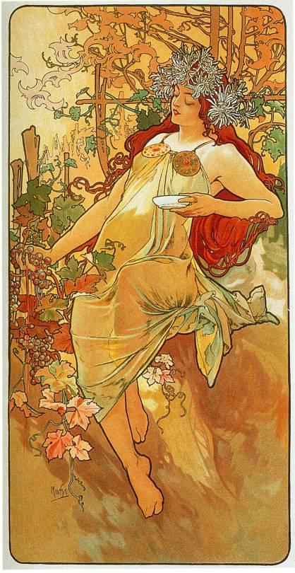 Alphonse Mucha, 'Autumn', 1896