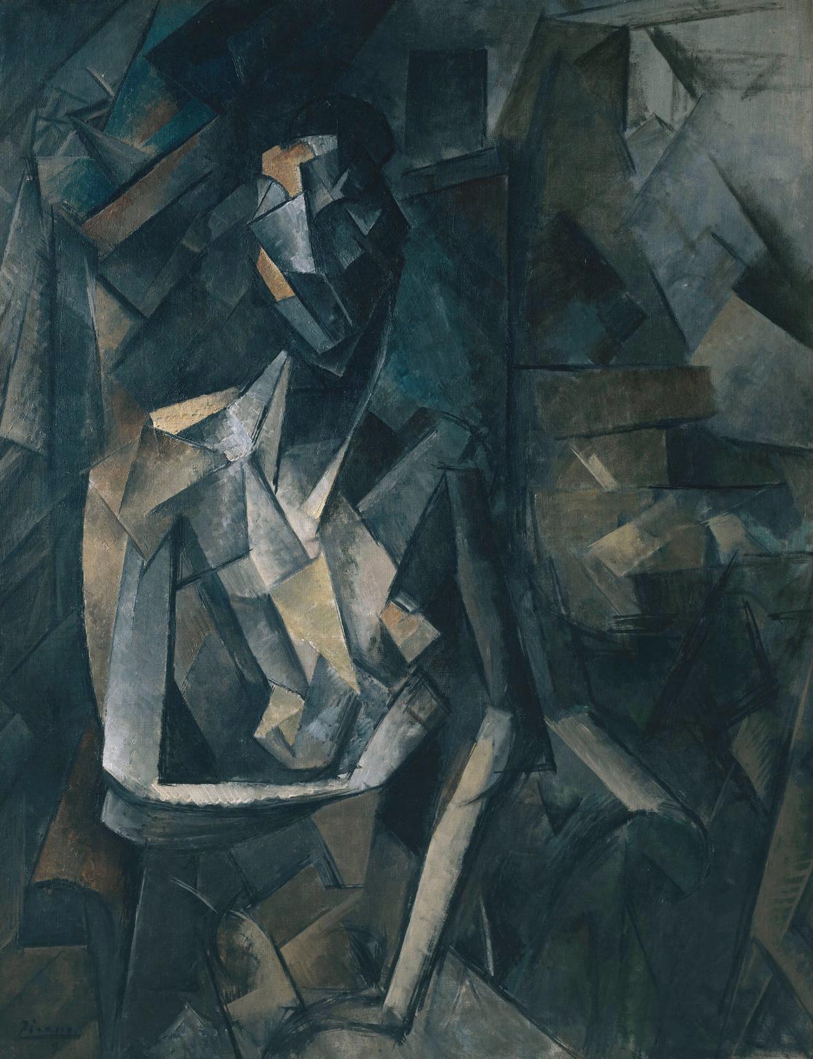 Picasso, Figure dans un fauteuil, 1909