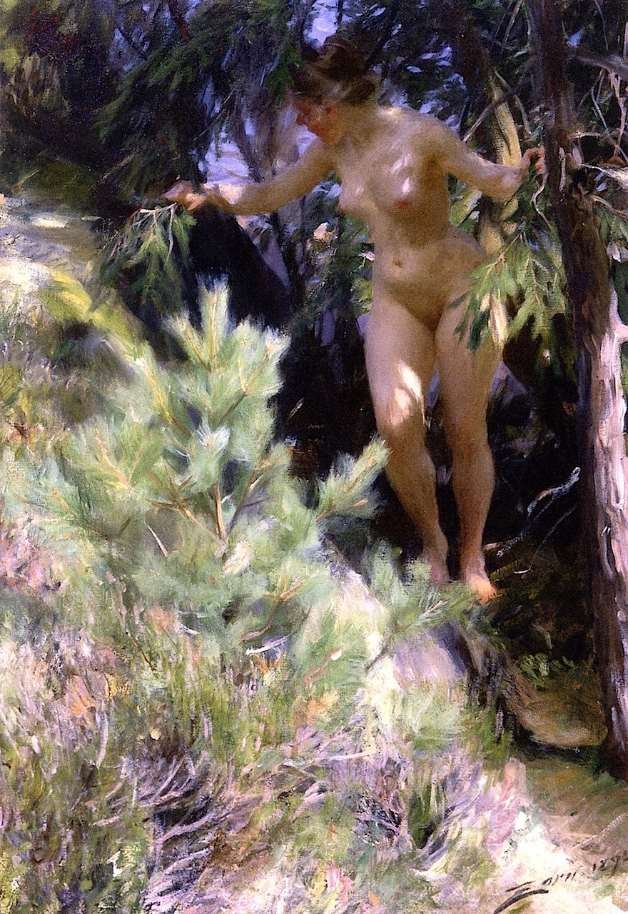 Anders Zorn, 'Nude under a Spruce Tree', 1892.jpg