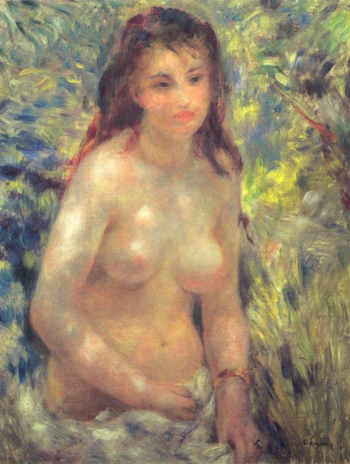 Pierre-Auguste Renoir, 'Study: Torso, Sunlight effect', 1876