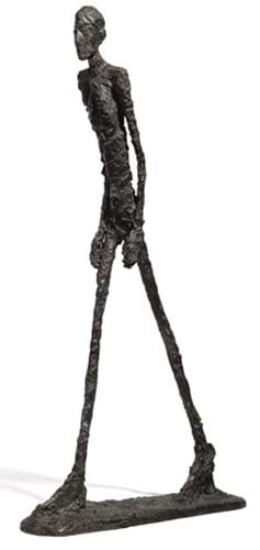 ' L'Homme qui Marche I', 1961   Fun Fact: In 2010,' this sculpture became one of the most expensive to ever be sold at auction, and currently appears on the 100 Swiss Franc banknote.