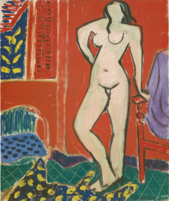 Matisse, 'Pink Nude, Red Interior', 1947.
