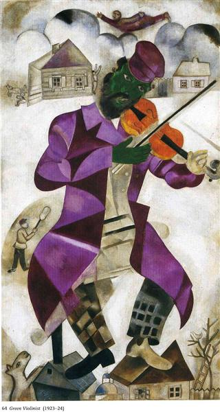 Marc Chagall, 'The Green Violinist', 1923-24