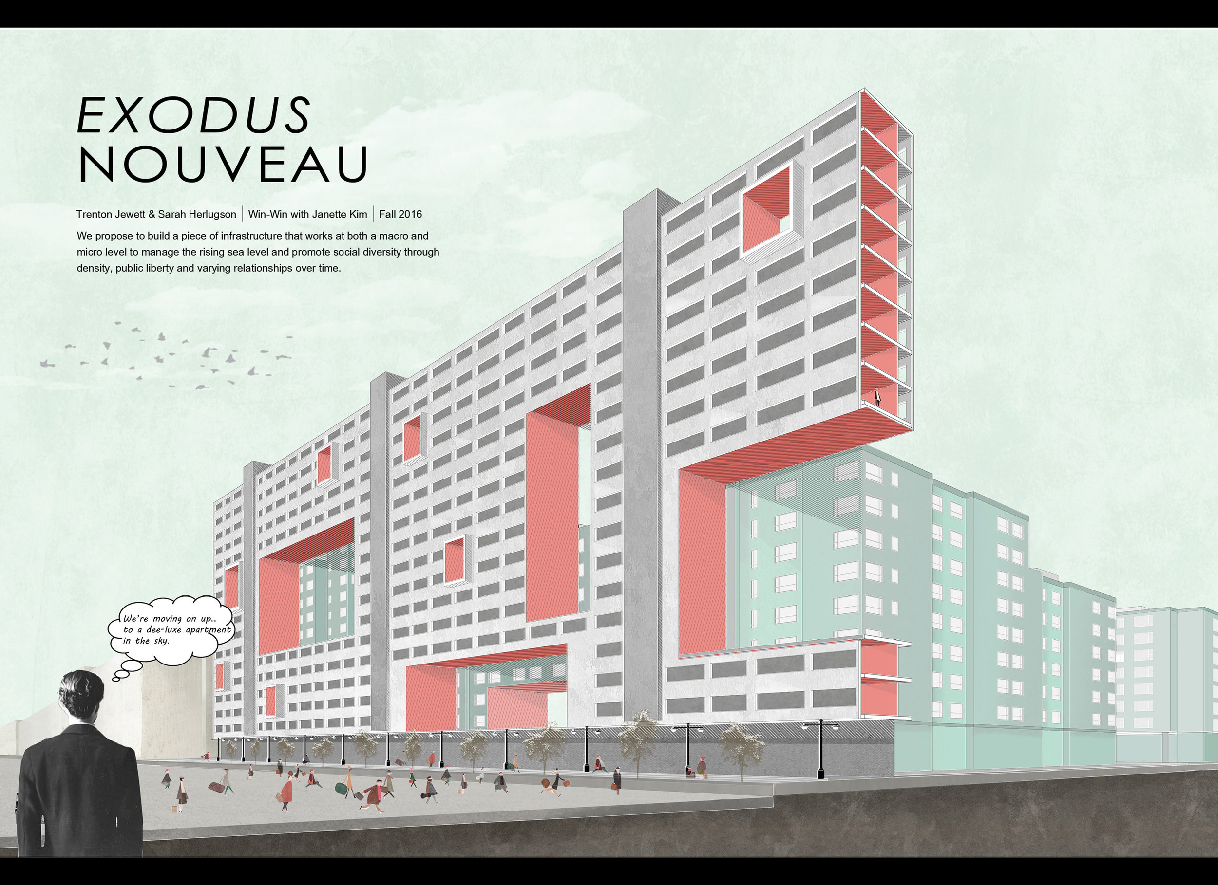 """""""Exodus Nouveau"""" proposal for Mission Bay by Sarah Herlugson and Trenton Jewett."""