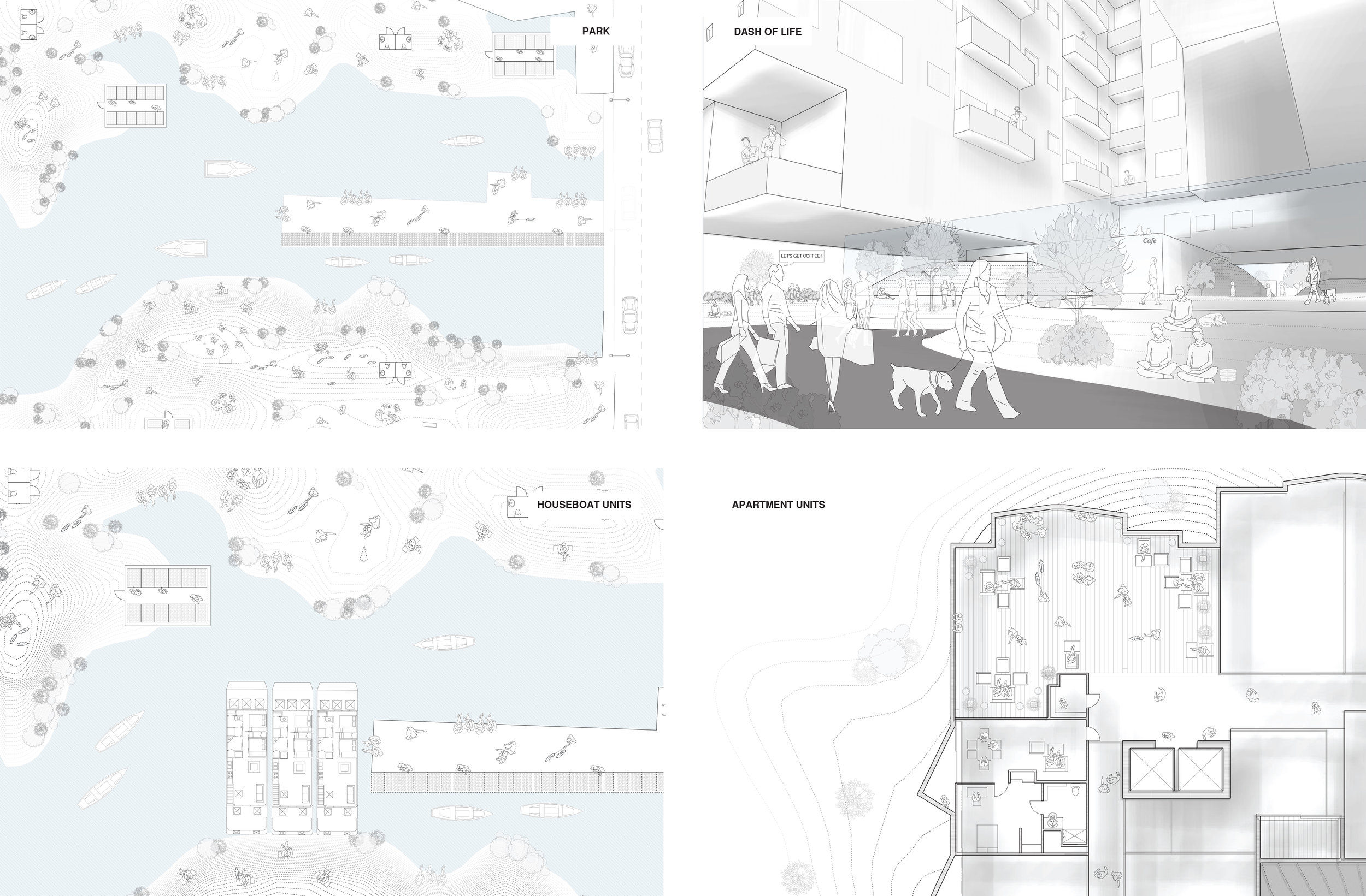 Design for a dynamic ground for Mission Bay by Manasi Kshirsagar, Trenton Jewett, and Shailee Shah.