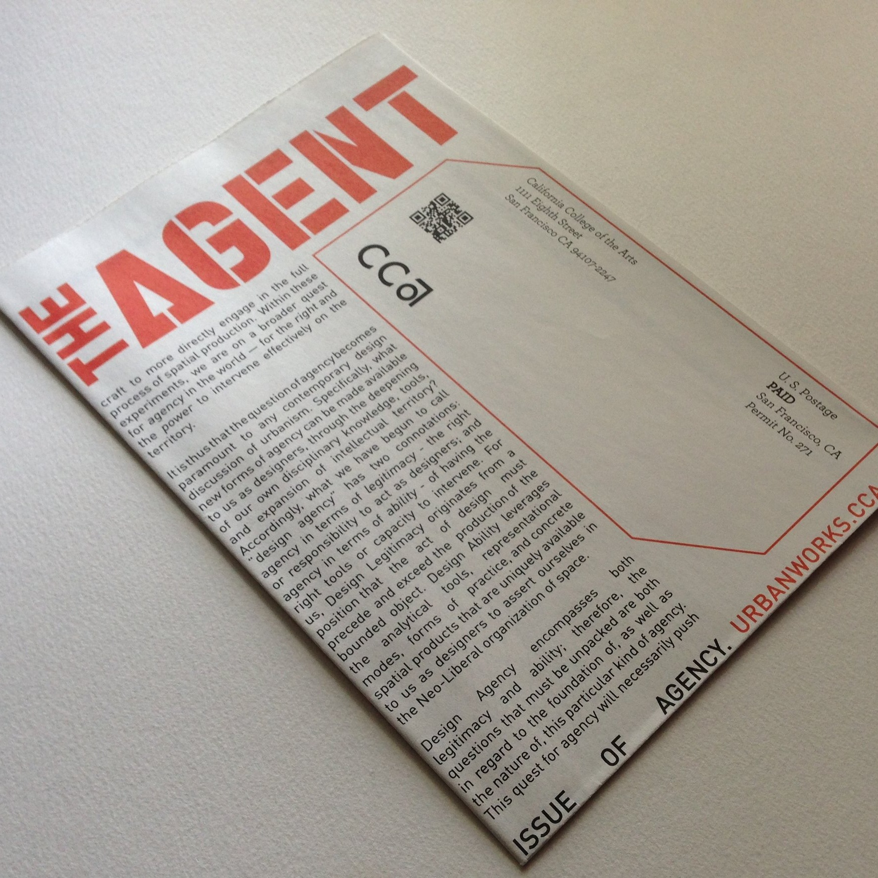 ISSUE 0: THE ISSUE OF AGENCY  Publication '14