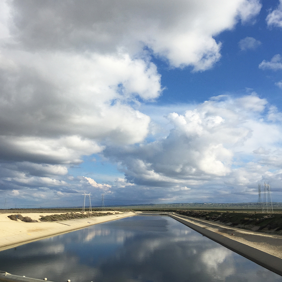 A series of aqueducts and pipelines cross through the Central Valley, primarily moving water from Northern California to the Central Valley's aquifers and agricultural land. (Photo by Neeraj Bhatia)