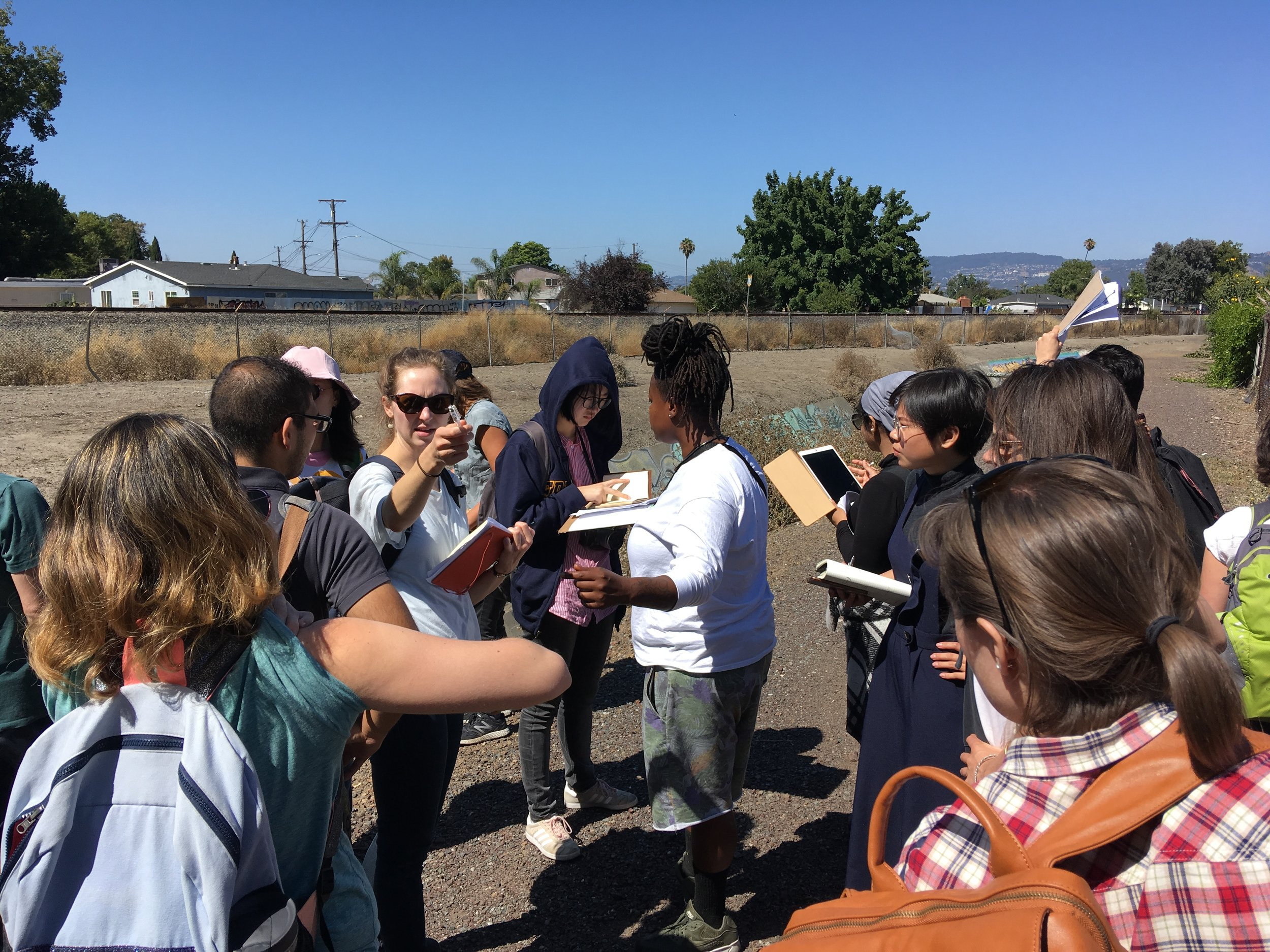 Tracing the San Leandro Creek with Keta Price of the East Oakland Collective. Deep East Oakland field trip.