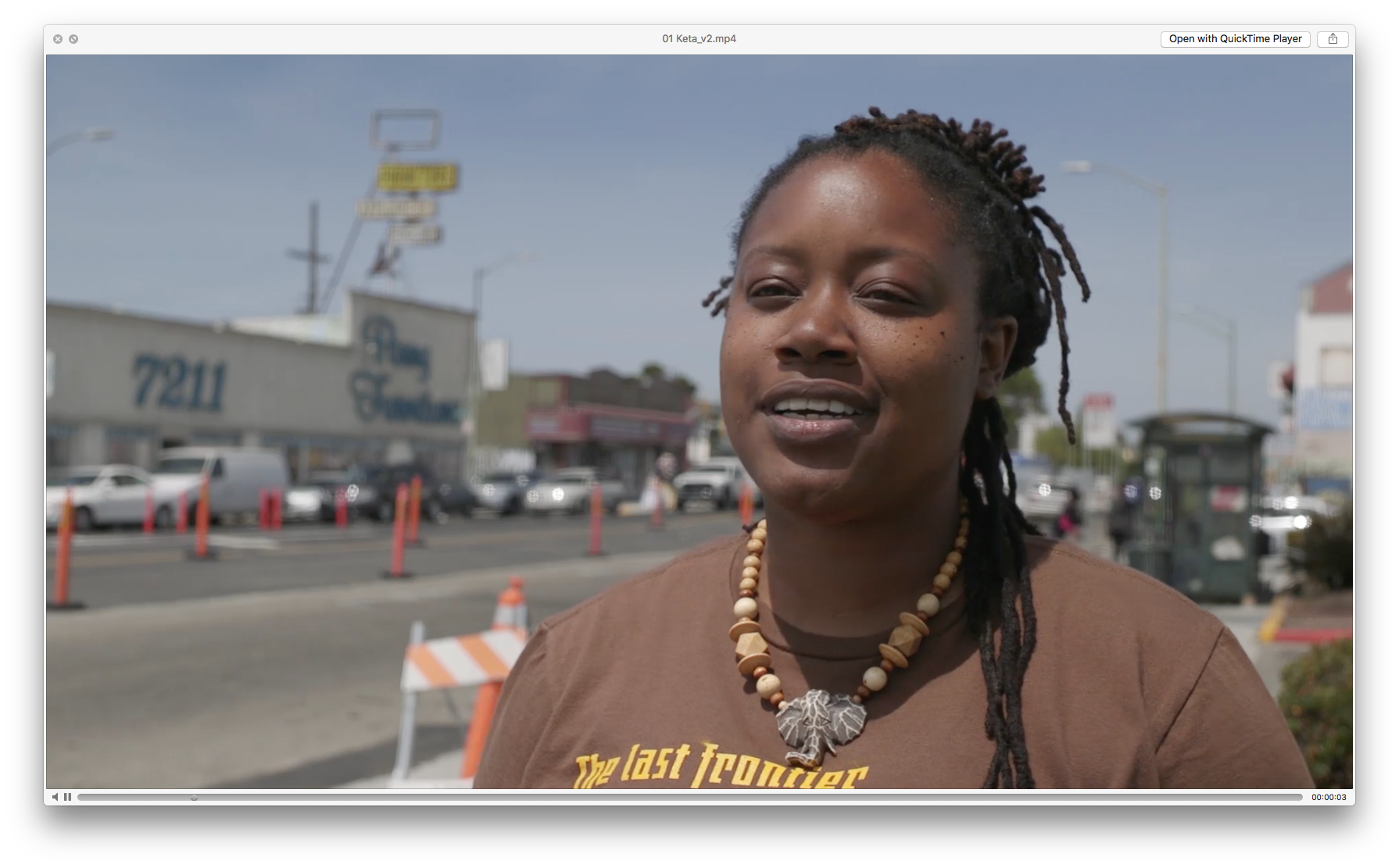 At the same time, the neighborhood is also subject to bay-wide gentrification pressures recently made even more acute as two (and maybe three) professional sports teams have left the site, raising questions about its future development. Image: Video interview with Marquita Price, East Oakland Collective. The All Bay Collective/modem.