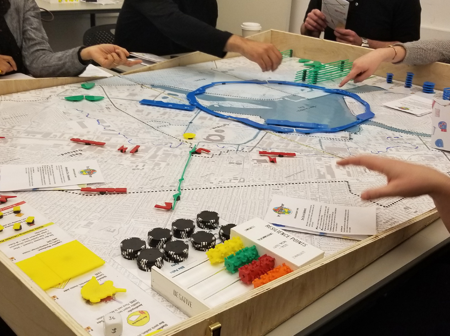 The Final In It Together game, played by Project Working Group members, student groups, at the BART Coliseum station, and many other events. Image: The All Bay Collective/Janette Kim.