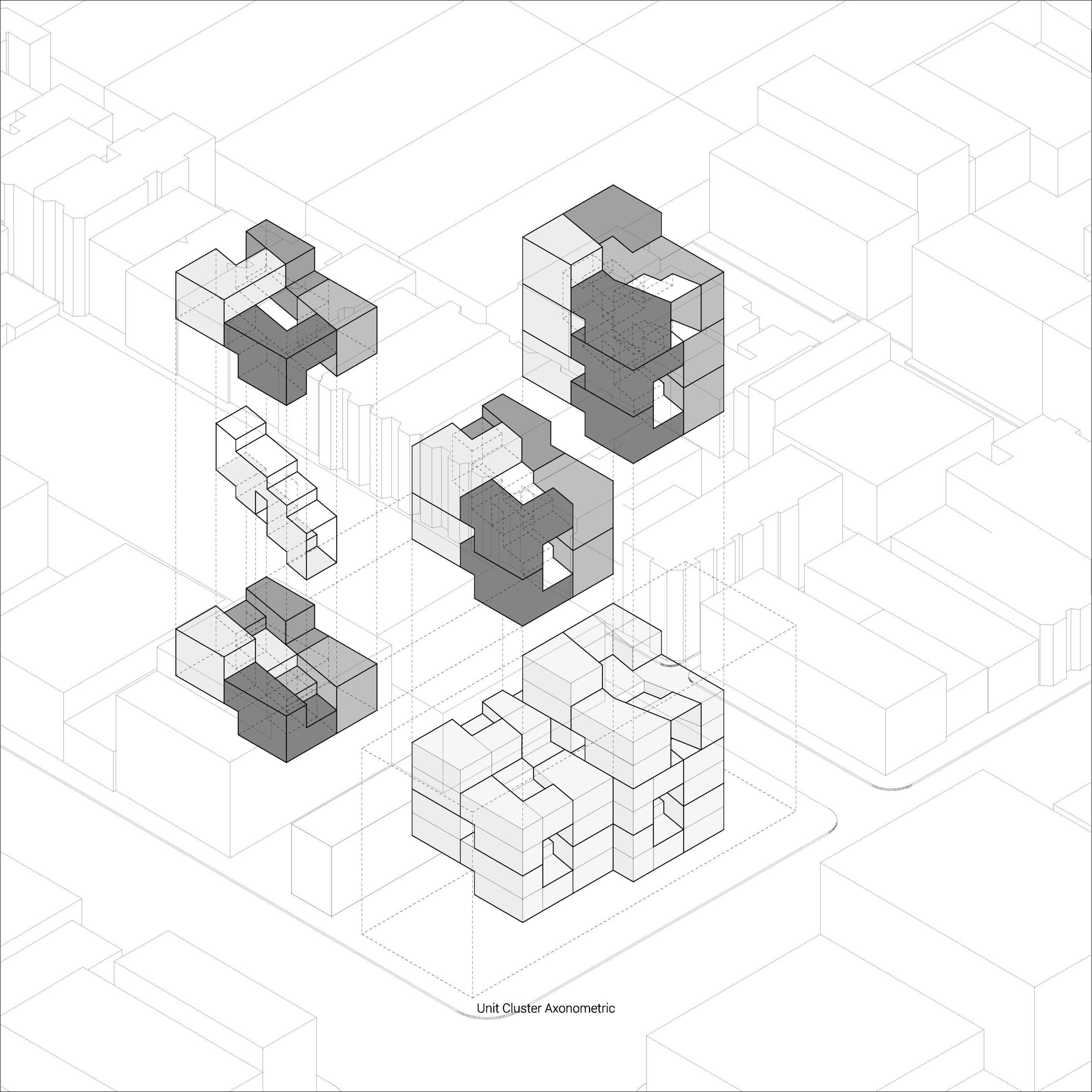 "Zizeng Wu: ""Urban Archipelago"", unit cluster"