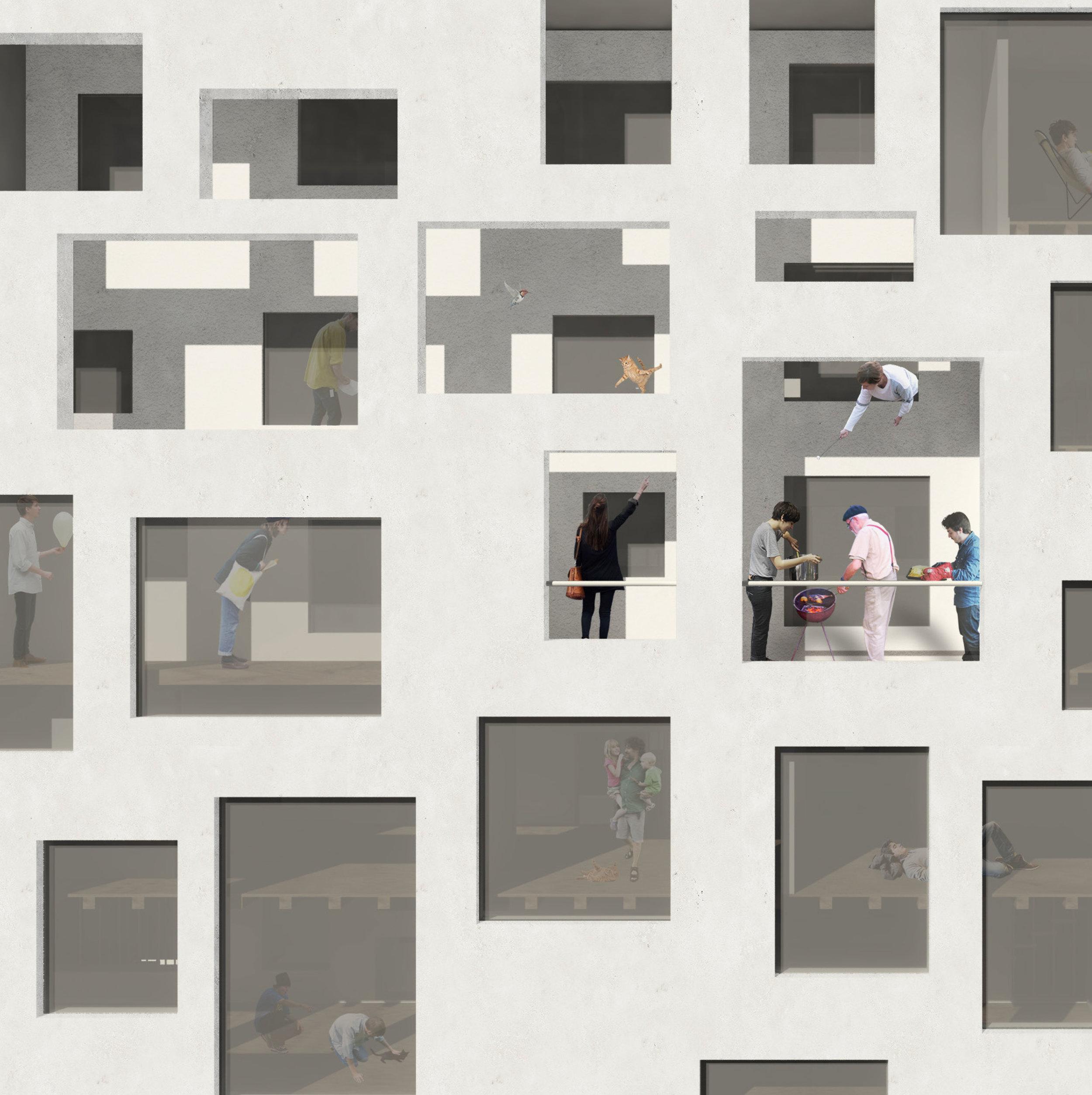 """Zhongwei Wang: """"Sharing is Caring"""", Render view"""