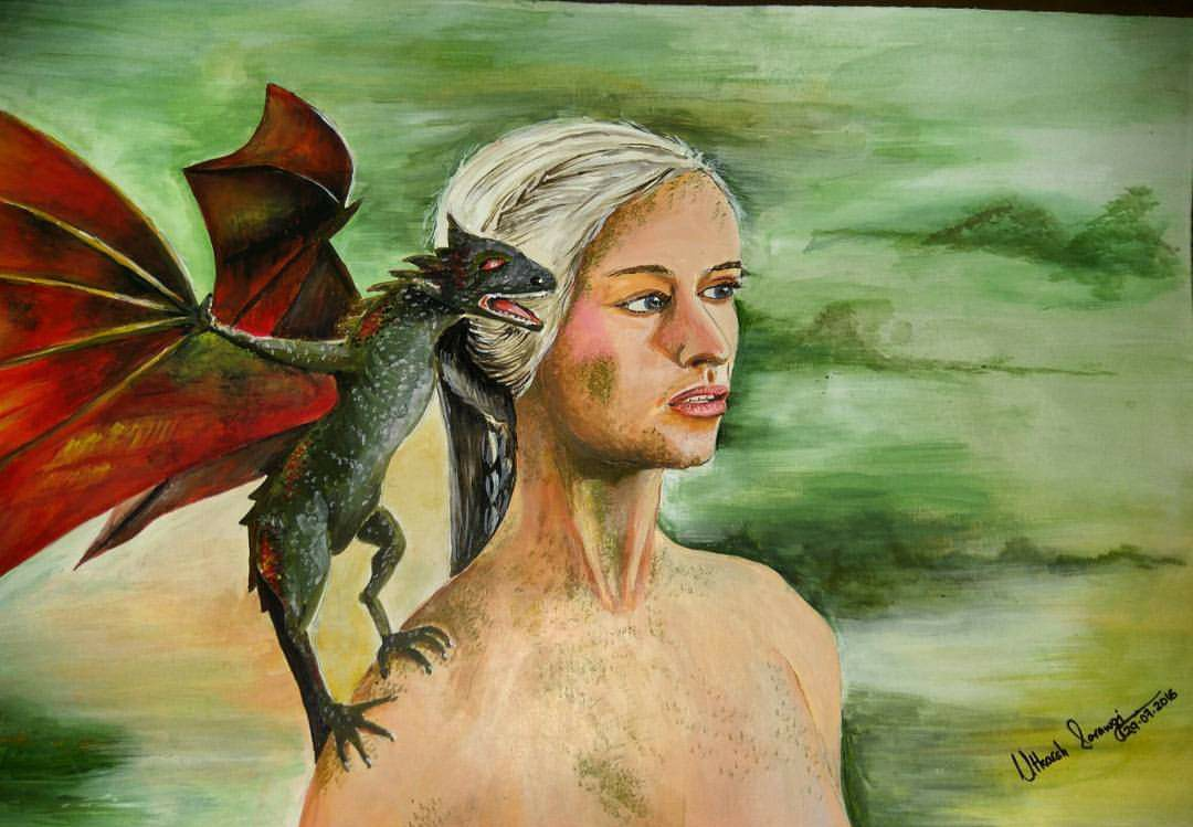 Another GoT acrylic, the Khaleesi with her dragon