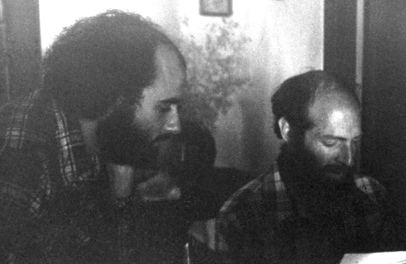 Gary and Art Lande rehearsing for Santa Barbara Opera House, 1976
