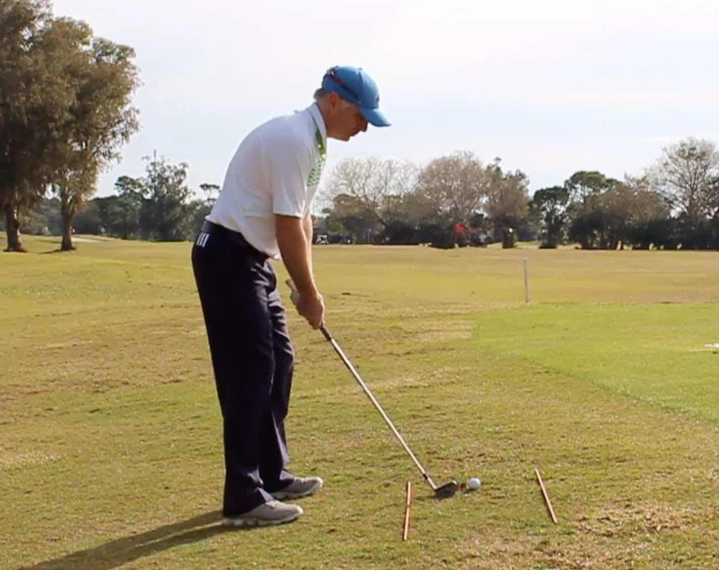 Sidehill Lie Golf Shot Ball Above Feet