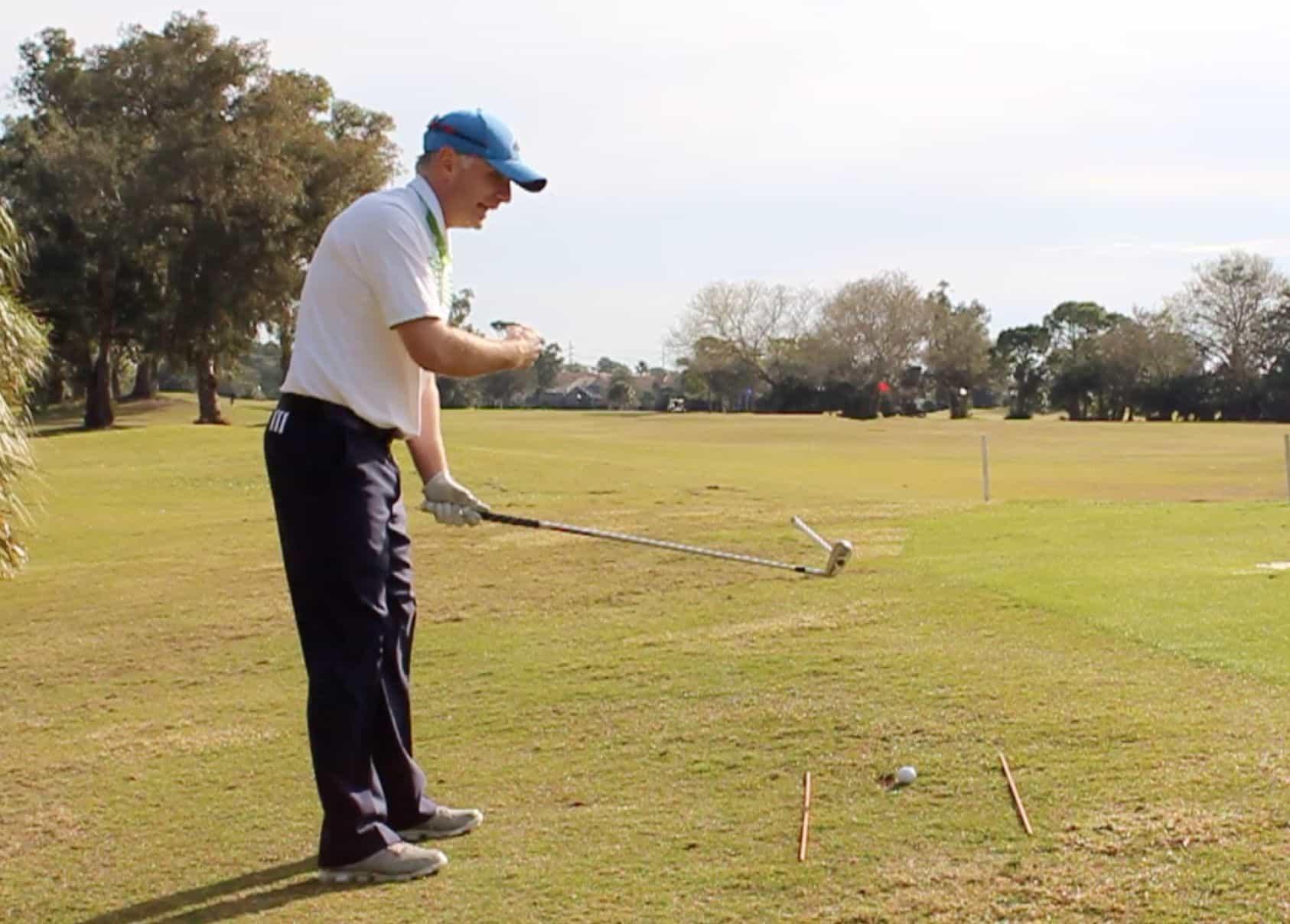 Golf Ball Above Feet Magnet