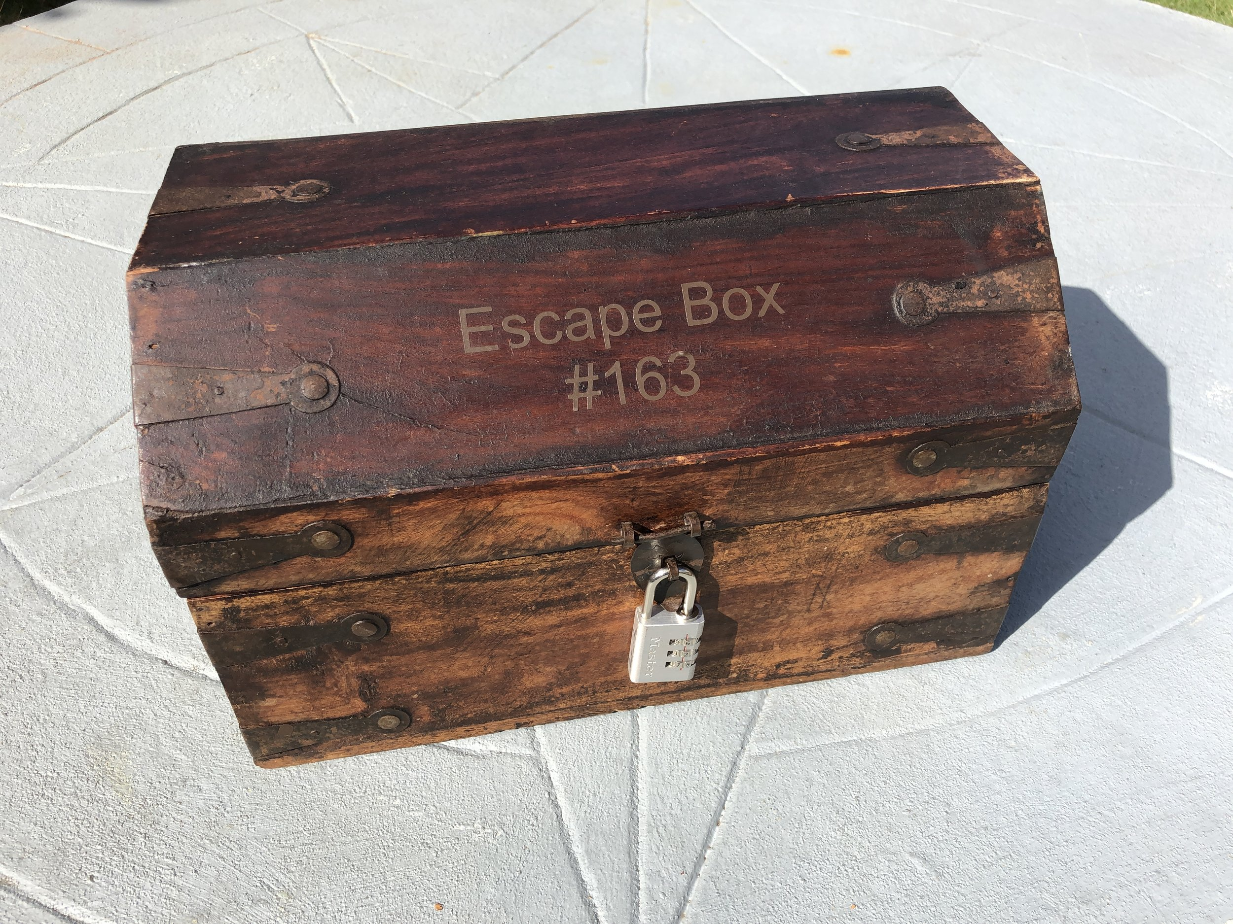 We make Escape Boxes (for sale) - Its like an escape room but in a box. Great to play with friends or family. Everything is real touchable and tangible. You can play it any time anywhere.