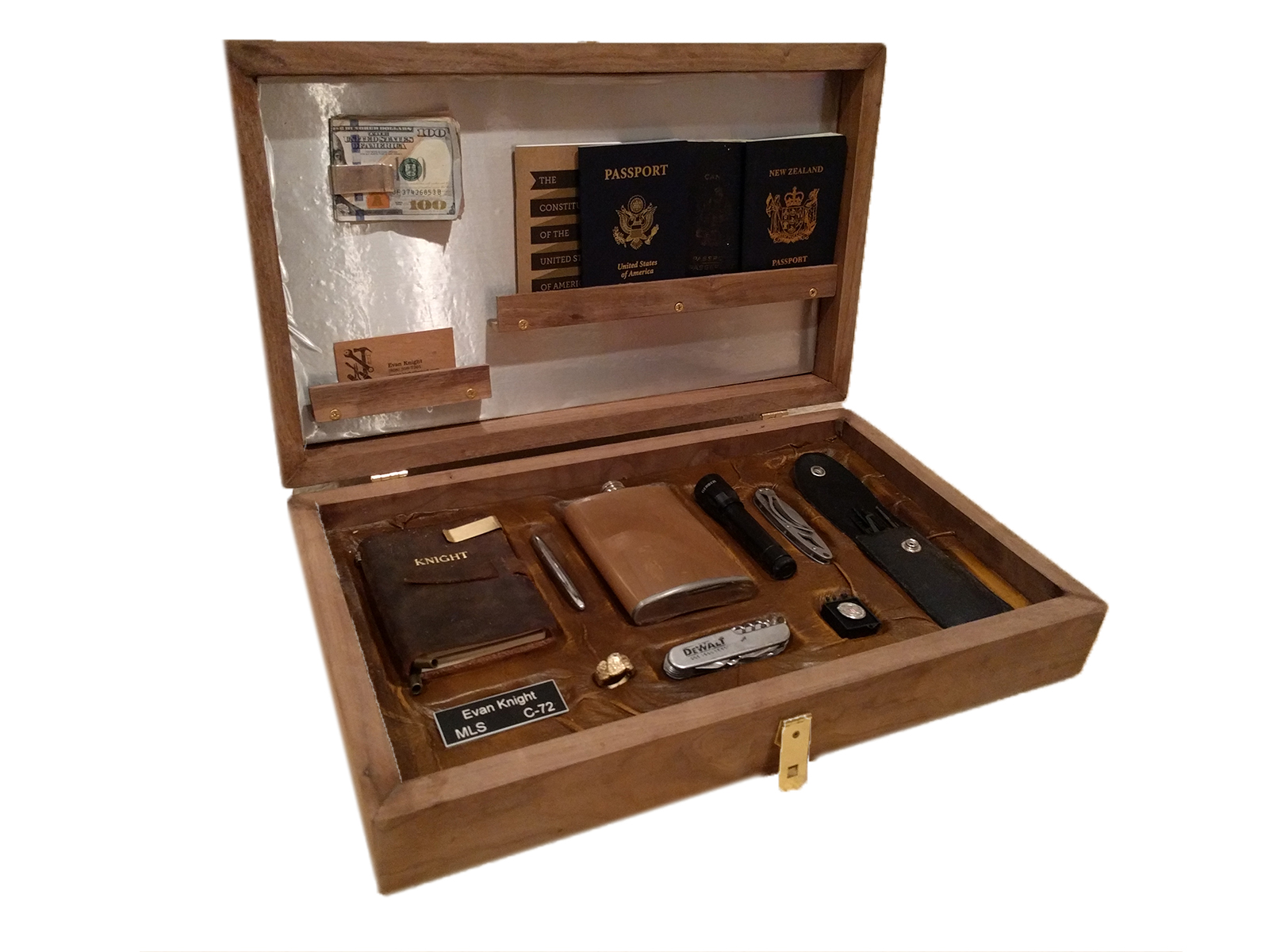 Kingsman box (DIY) (For Sale) - This is an amazing gift. Its a custom made box that contains all the right things to make anyone feel amazing.