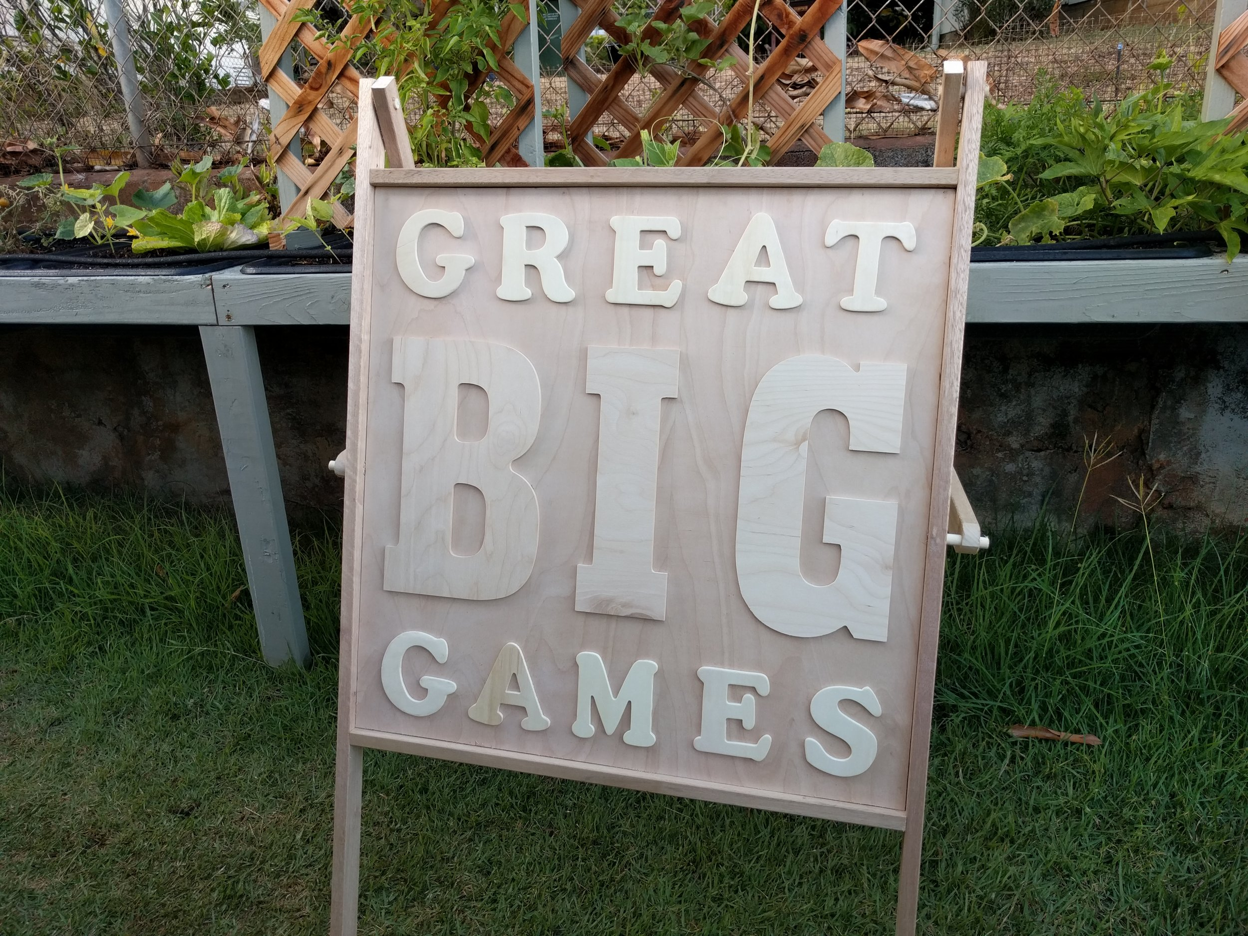 Great Big Games Sign