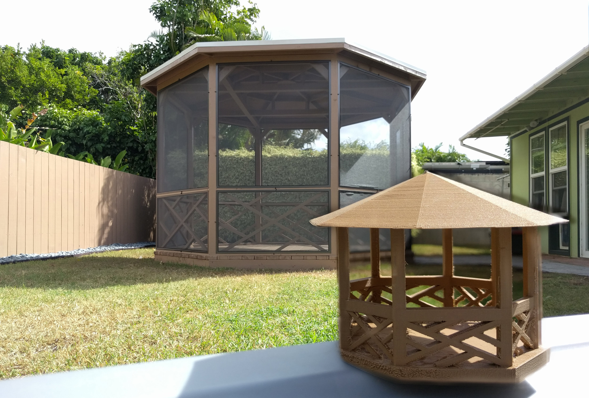 Gazebo and a scale model 3d printed