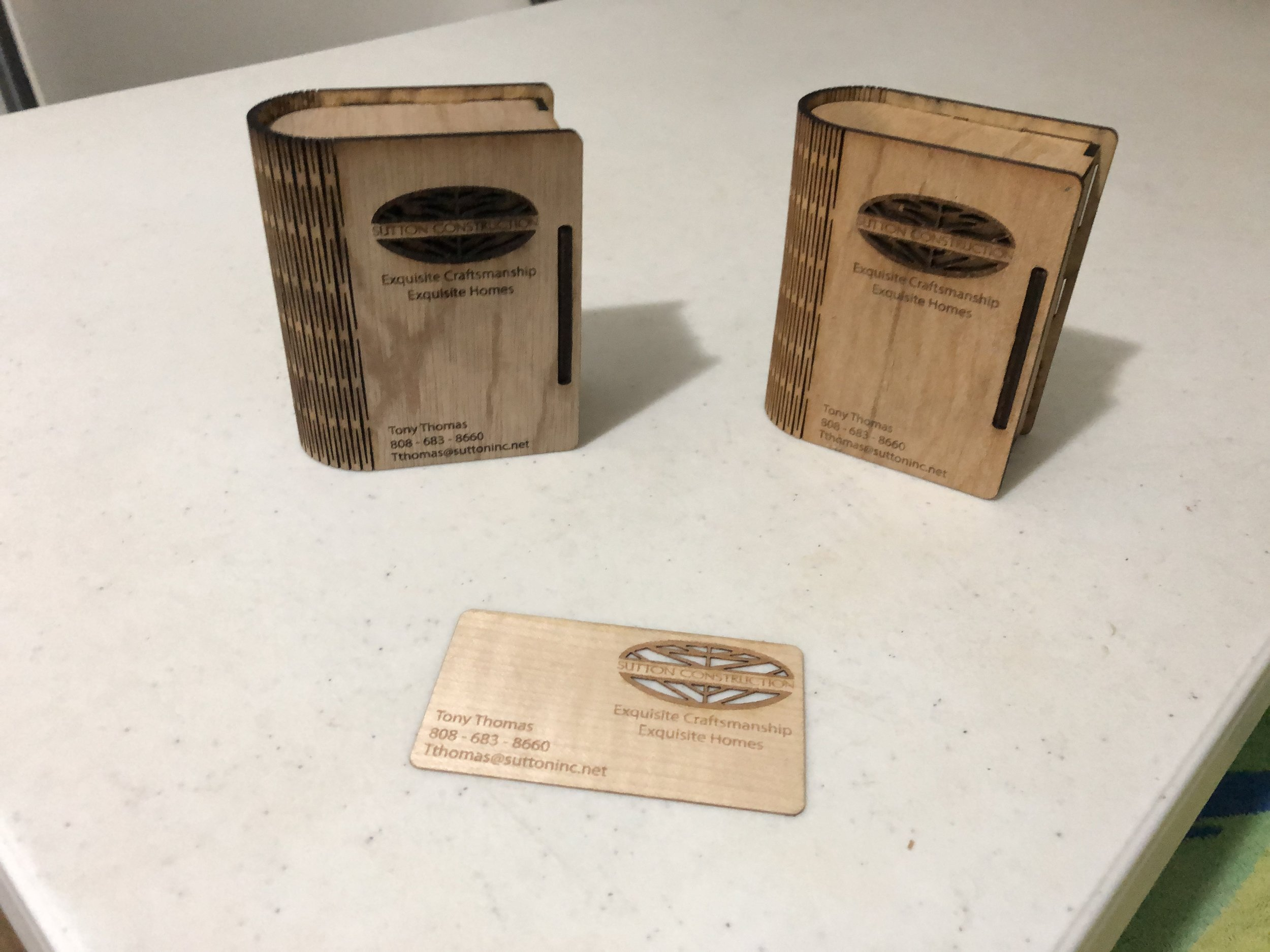 Business Cards and Holder