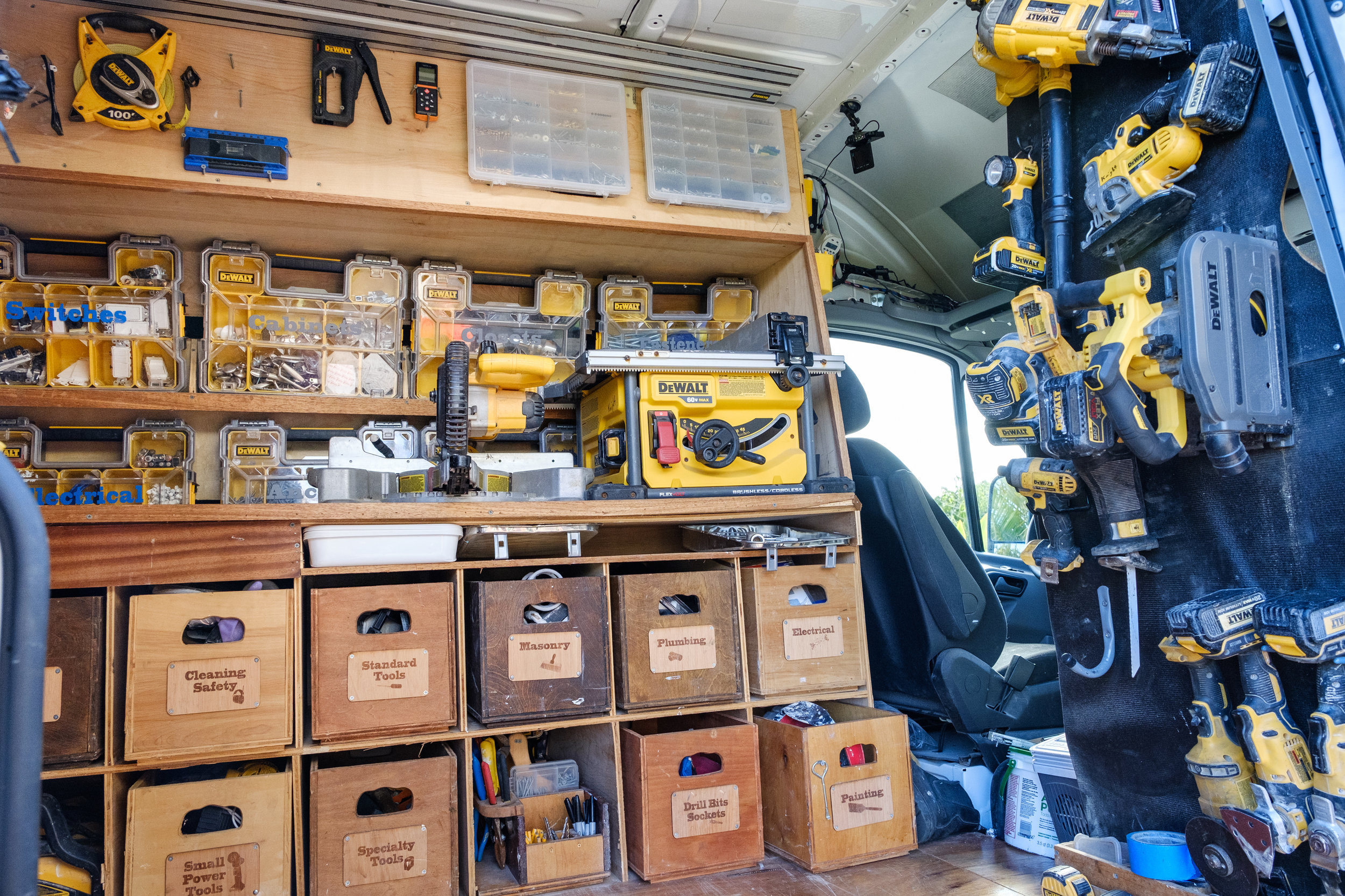 Organized Work Van