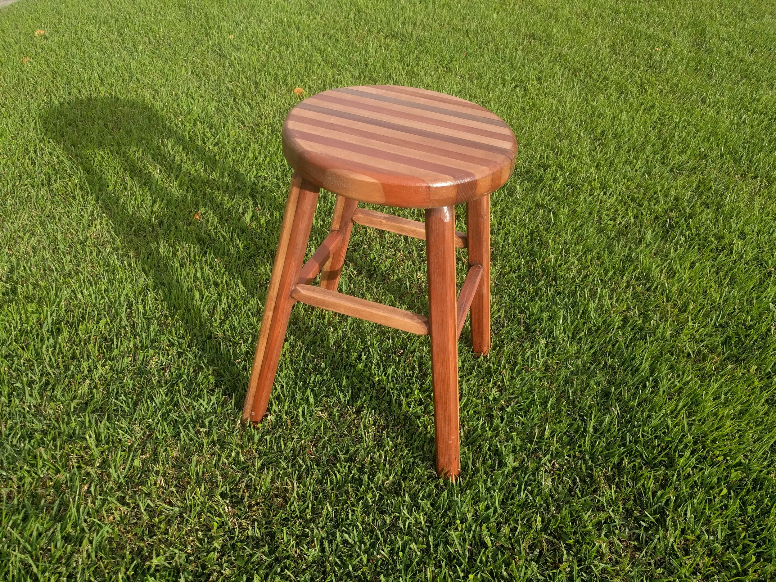 Mahogany and Maple Stool