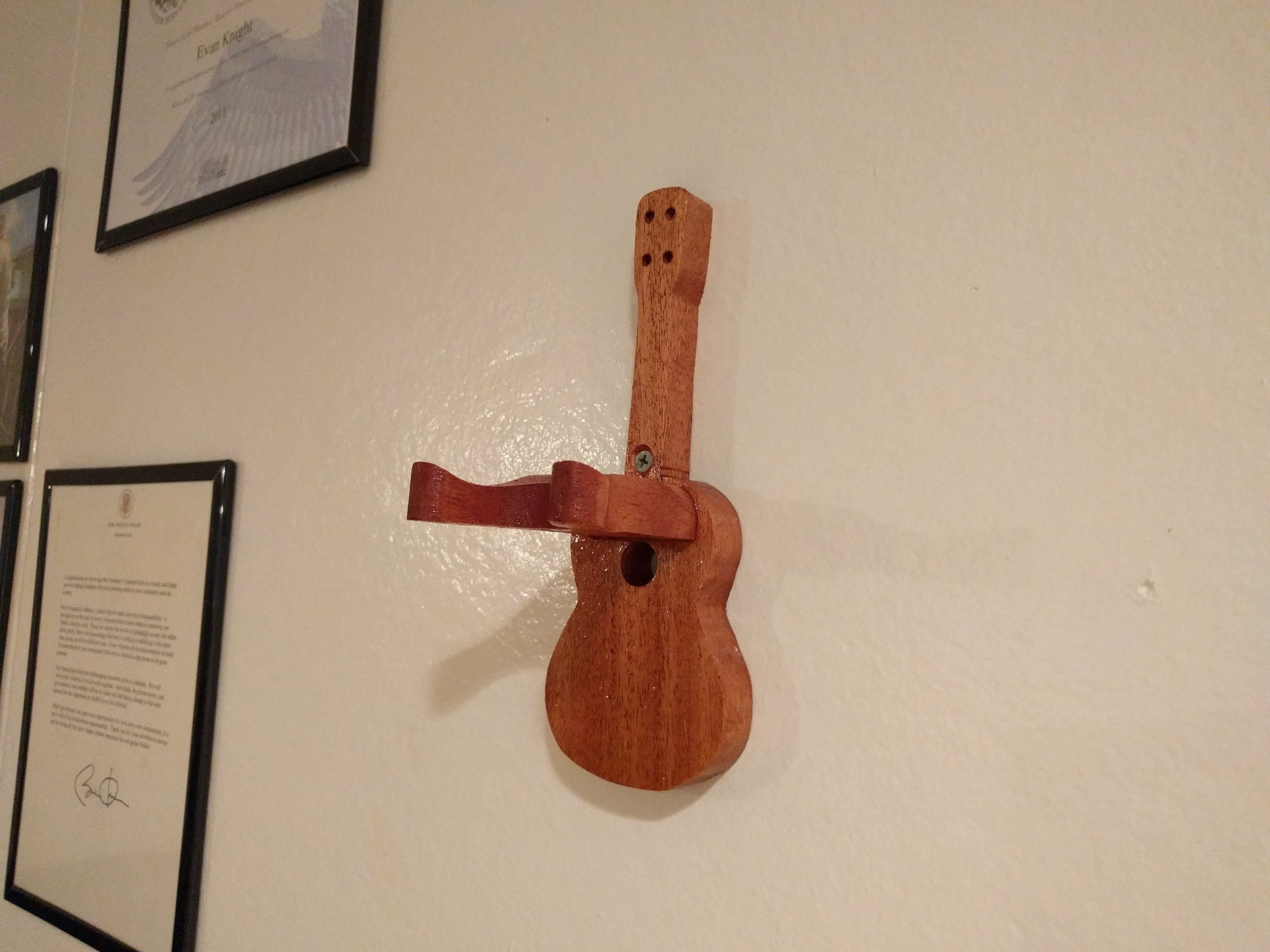 Ukulele Hook for the wall