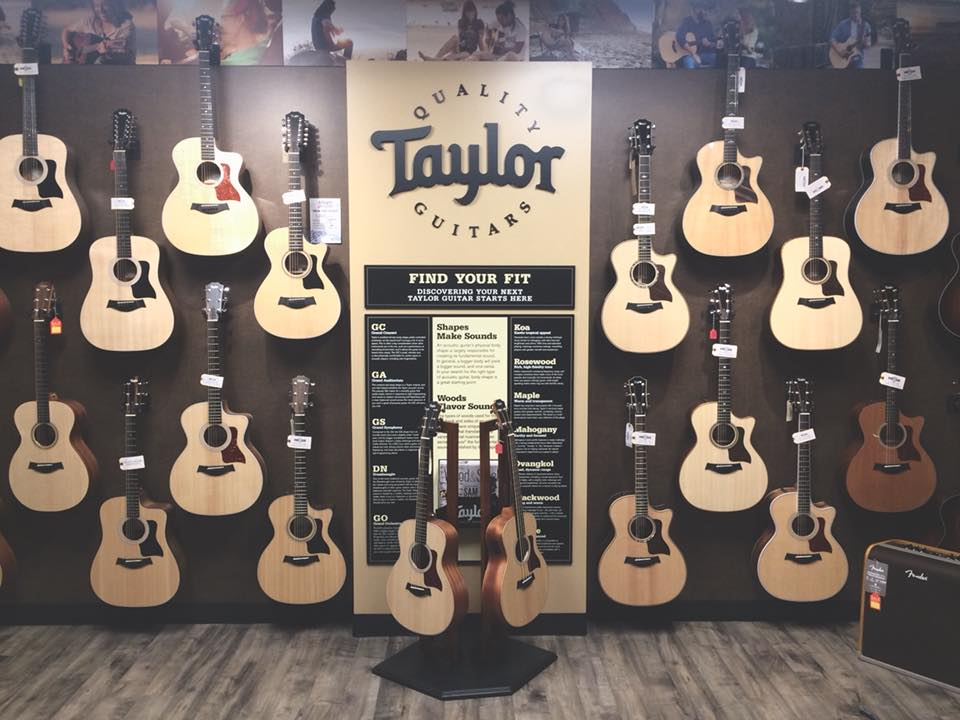 music works carries the largest assortment of acoustic guitars in 2 luxury humidified acoustic rooms