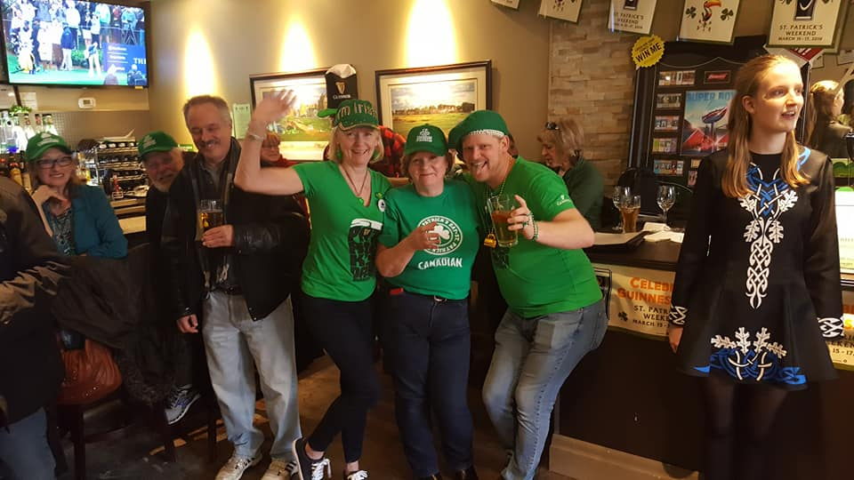 Aces Guests Celebrating St. Patricks Day