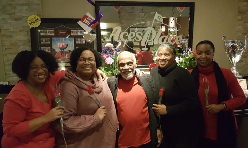 Aces Guests Celebrating Valentines Day