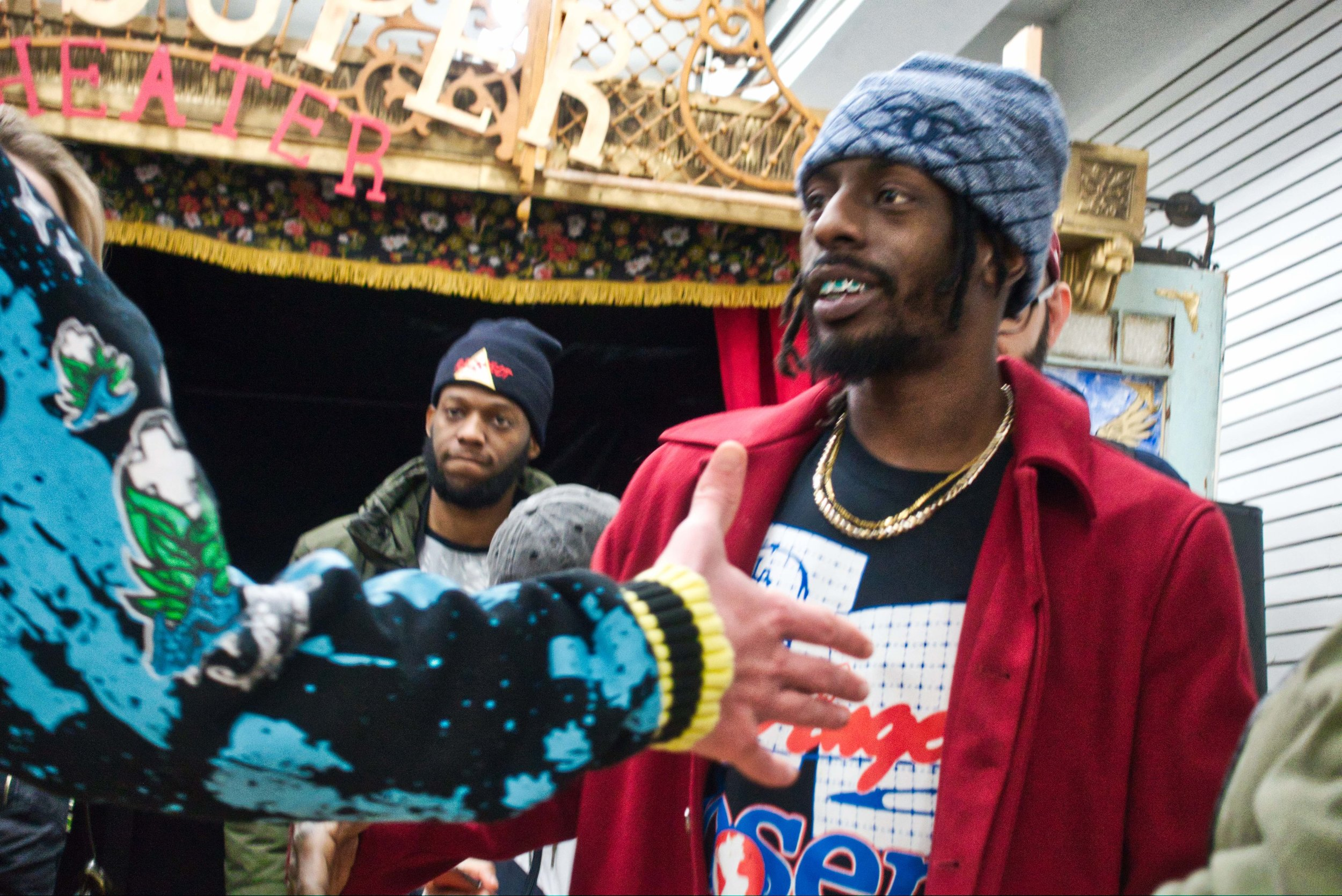 I covered The Flatbush Zombies at a NYC downtown pop up.