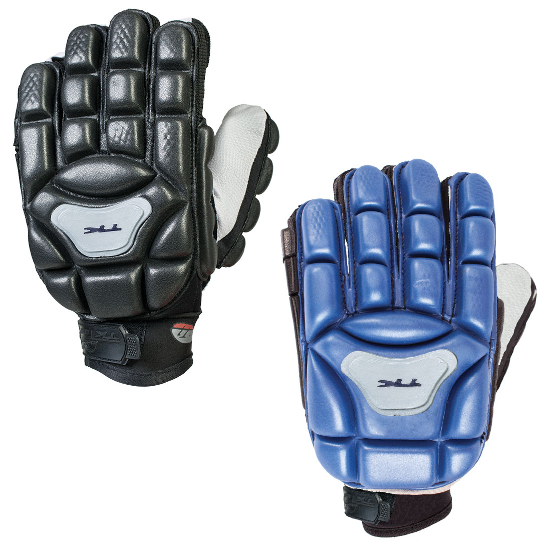 Gloves - Gloves are not required, but players may find these helps save them from some painful bruises.Indoor players typically wear thicker gloves, like those seen in the picture. A left hand glove is always recommended for indoor field hockey.You can shop online or in stores for many other types of field hockey gloves.