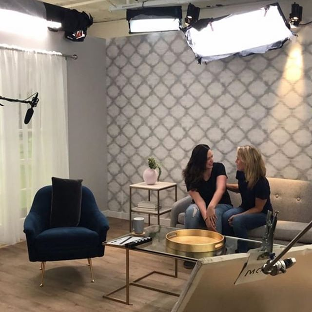 Our Founders, Becky & Susan on the video production set today in NYC. We're working on an exciting new series of classes launching in July. Stay tuned for more! ✨ #tinyhooduniversity #masterparenting #parentwithconfidence