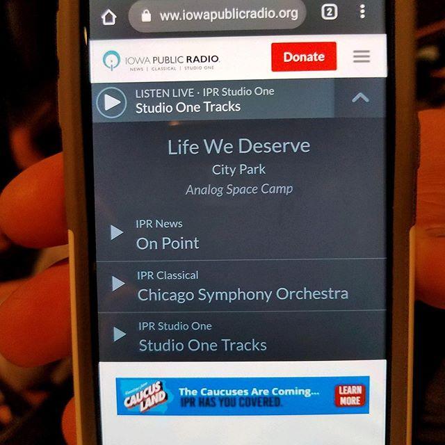 Super proud to have Life We Deserve off our new album Analog Space Camp played On IPR Studio One radio this evening!  #iowamusic #studioonetracks #gasmoney #iowacity #cedarrapids #indiemusic