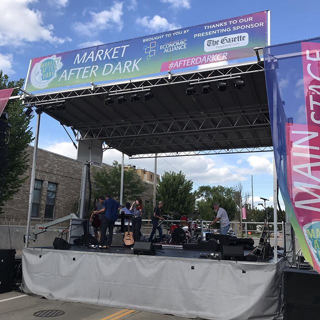 Sound check. Come out and see us tonight! August 24th Market After Dark Cedar Rapids- Downtown Main Stage at the corners of 4th AVE SE and 5th ST SE (near the Cedar Rapids Downtown Library) 6:45pm-8:00pm No Admission Fee- All Ages #cedarrapids #iowacity #iowamusic