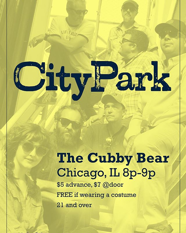 City Park is playing The Cubby Bear in Chicago! Oct 26, 8p. Get on out and see us! #altcountry #americana #rootsrock #cubbybear #iowacity #iowamusic