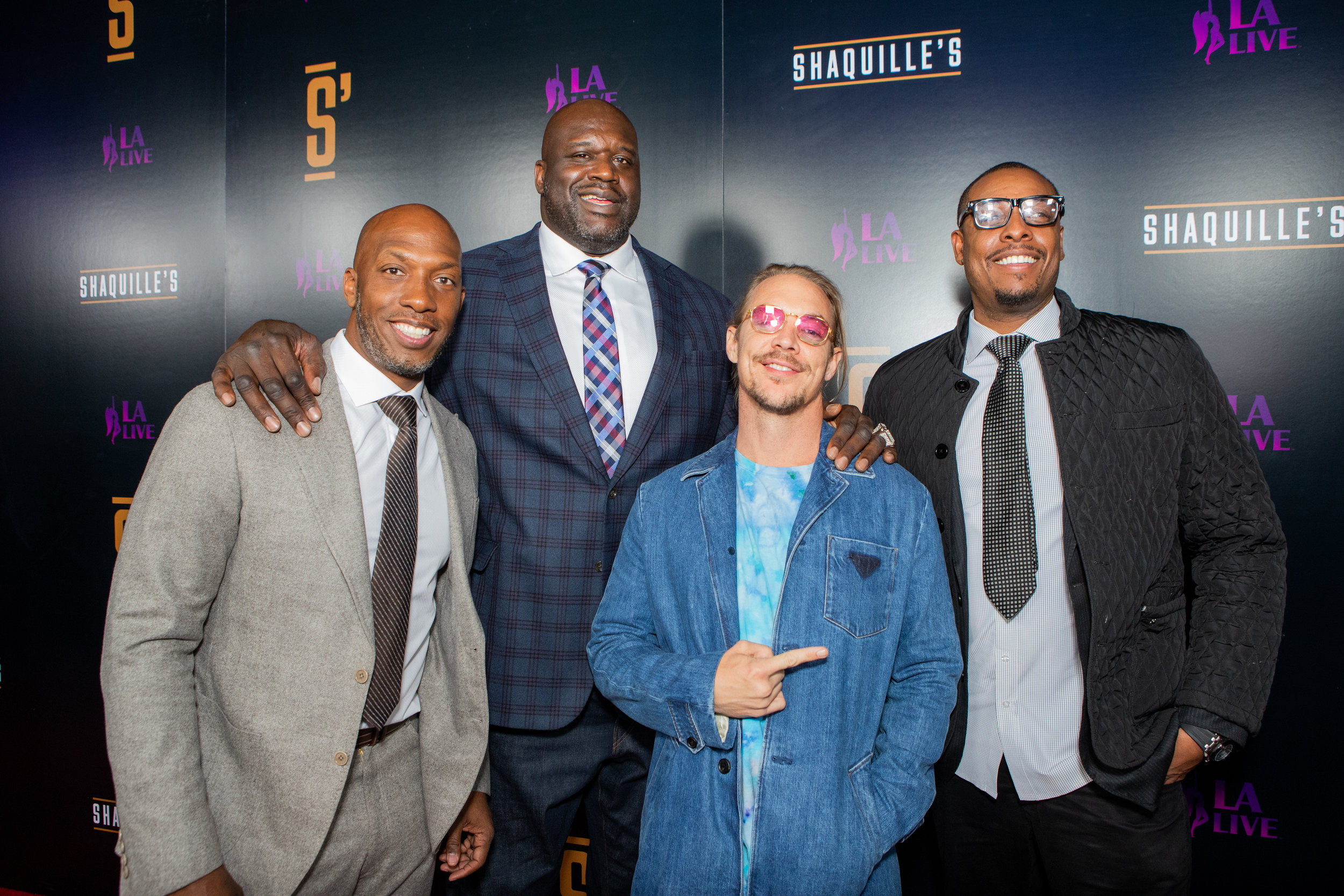 Chauncey Billups, Shaquille O'Neal, Diplo and Paul Pierce