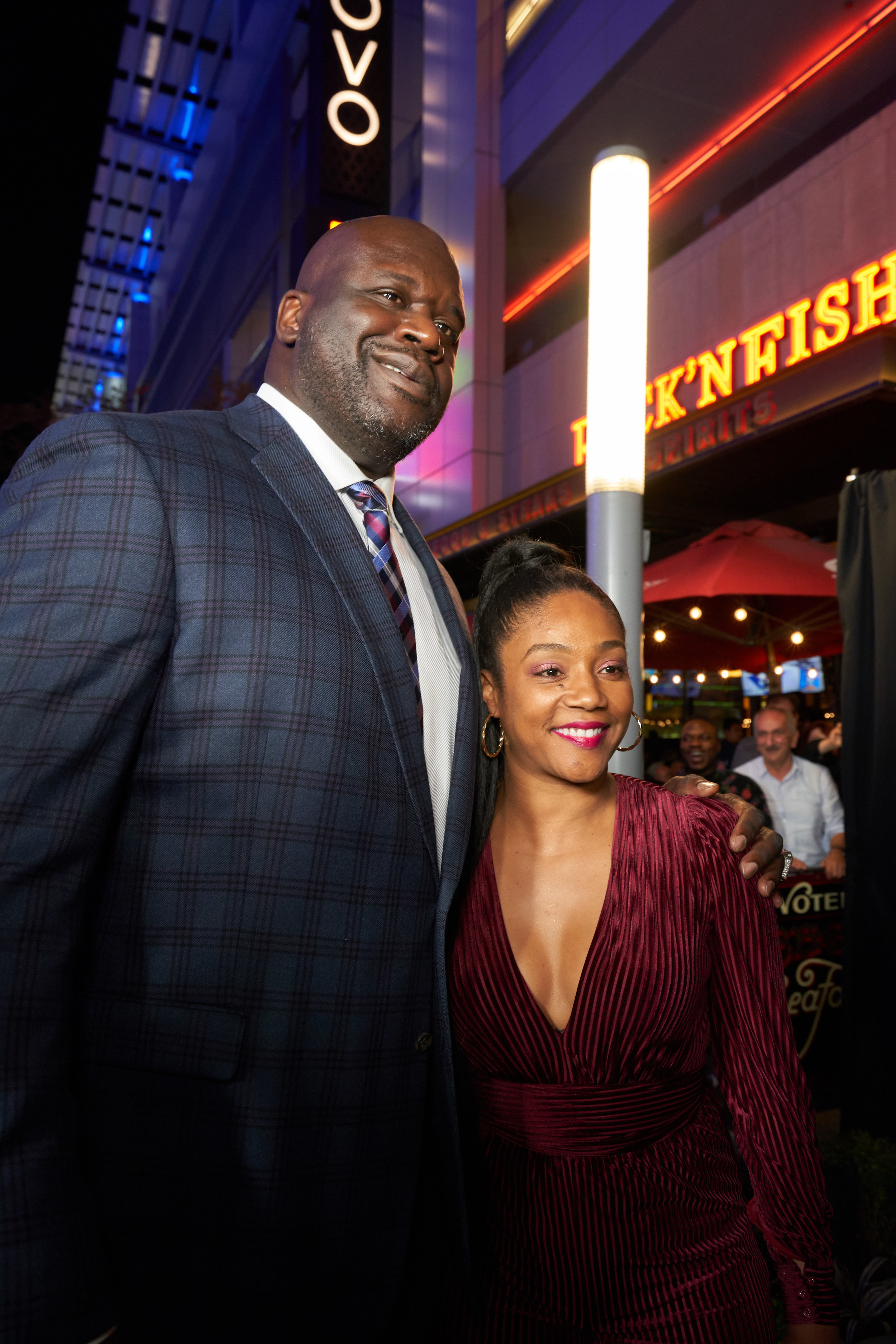 Shaquille O'Neal and Tiffany Haddish