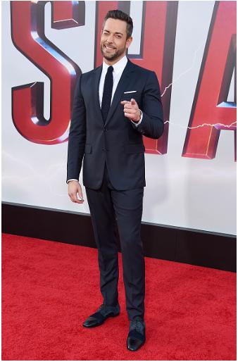 Zachary Levi Attends the Shazam Premiere in LA on March 28, 2019