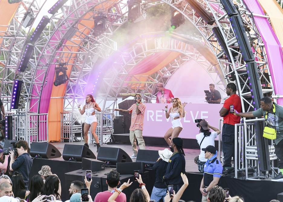 Tyga Performing at #REVOLVEfestival